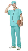 Dr Scrubs Surgeon RN Costume - 4 pc set - Everything but the Doctor Degree! - $22.99