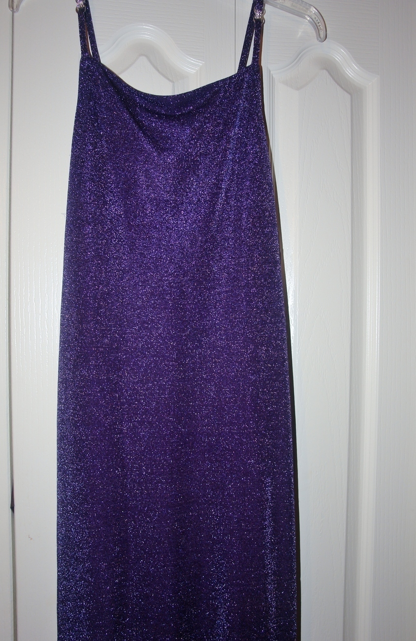 Purple Cocktail Dress New size Med Bonanza