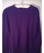 Alfani Sweater: Burgundy Ribbed Knit Polo Style with Collar -Size Small - $19.00