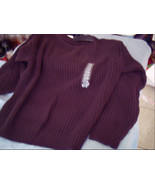 BILL BLASS SMALL BROWN SWEATER with Tags MADE IN USA - $20.00