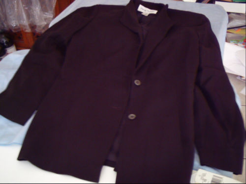 Primary image for New With Tags Rena Rowan Black Blazer Size 10 Mandarin Style