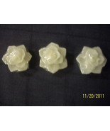 Rose Floating Candles scented - 2 packages - each package contains 3 can... - $4.00