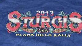 2013 Sturgis Black Hills Rally T-shirt Motor Cycle Short Sleeve L - $12.86