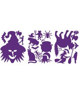 LiteMark Purple Witch Pack Assorted Halloween Decorations Decal Stickers... - $16.95