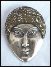 1920s Vintage Art Deco Josephine Baker Sterling Silver Brooch - $275.00