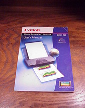 Canon Bubble Jet Printer BJC-80 User Manual - $6.95