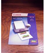 Canon Bubble Jet Printer BJC-80 User Manual - $6.95