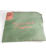 Vintage American Bank of Maryland Bank Deposit Bag no key, photo prop - $30.16