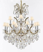 Made with Swarovski Crystal Maria Theresa Chandelier Lights Fixture Pendant Ceil - $712.75