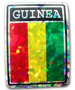 Guinea Country Flag Reflective Decal Bumper Sticker - $16.00