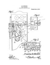 Trick-telephone Patent Print - White - $7.95+