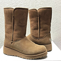 UGG AMIE CLASSIC SLIM CHESTNUT SUEDE WEDGE BOOT US 6 / EU 37 / UK 4  - NEW - €119,87 EUR