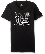 NWT ADIDAS Brooklyn Nets Basketball Black Medium 10/12 Girls NBA NEW - $6.43