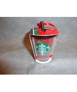 STARBUCKS 2018 GLITTER COLD CUP WITH STRAW ORNAMENT - $20.74