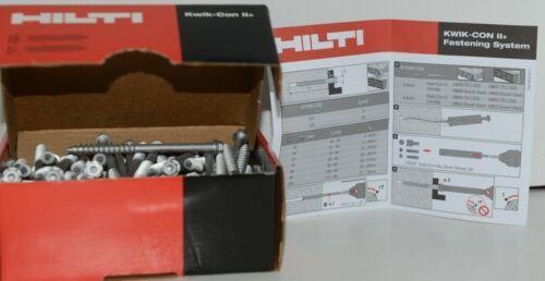 HILTI KWIK CON II plus TORX HWH HEX HEAD 1/4 x 3 3/4 #433025 Box of 100