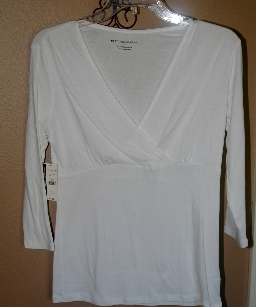 White  knit top ~ New ~ Size Small