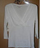 White  knit top ~ New ~ Size Small - $10.00