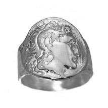 Alexander the great king of Macedonia Roman Empire REAL Sterling silver ... - $62.94