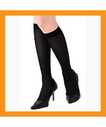 280D high compression stockings support hose knee varicose veins black 3... - $32.50