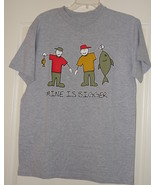 Men's  Fishing T- Shirt Size Medium - $7.99