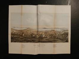 #7232----1852 original San Francisco color aerial view - $125.00