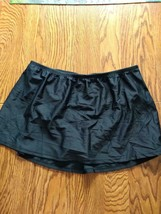 Island Escape Black Skirtini Swimwear Bottoms Size 18W image 1
