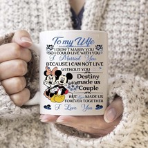Mickey Mouse To My Wife I Married You Mug White Ceramic 11oz Tea Cup For... - ₹1,004.06 INR+