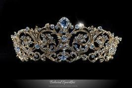 Matilda Victorian Romantic Gold Tiara | Swarovski Crystal - $128.95
