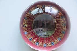 original GLASS dome ADVERTISING PAPERWEIGHT St.Catherine's Court Castle - $42.75