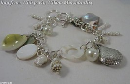 Shell and Bead Toggle Fashion Charm Bracelet - $16.95