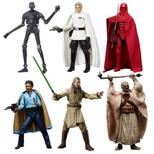 Star Wars The Black Series 6-Inch Action Figures Wave 11 Set of 6, Hasbro