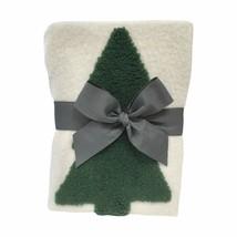 Threshold Pine Tree Evergreen Throw Blanket Christmas Holiday White/Gree... - $29.99