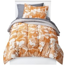 Room Essentials Orange Botanical Twin/Single Size Extra Long Bedding Set - $60.00
