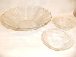 Lot Jeannette Glass DEWDROP Bowls Large Salad 2 Small - $49.99