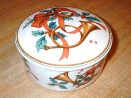 MIKASA Porcelain Christmas Box JUBILATION HK503 - $19.99