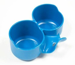 SASSY BABY FOOD 2 JAR HOLDER FOR FEEDING BALANCING 2 JARS AT ONCE  BLUE - $3.95
