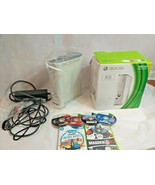 Xbox 360 4GB Special Edition White version + video games sports racing s... - $98.01
