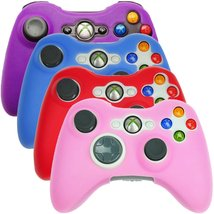 HDE Xbox 360 Controller Skin 4 Pack Combo Silicone Rubber Protective Gri... - $13.25