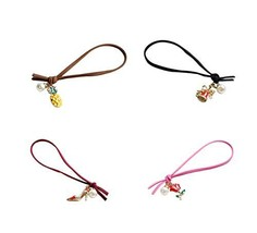 4 Pieces Of Innovative Style Christmas Fruit Hair Ring Hair Accessories