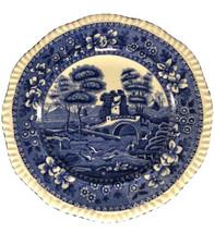 "Copeland ""Spode's Tower"" blue transferware Luncheon plate 8 1/4""  - $19.79"