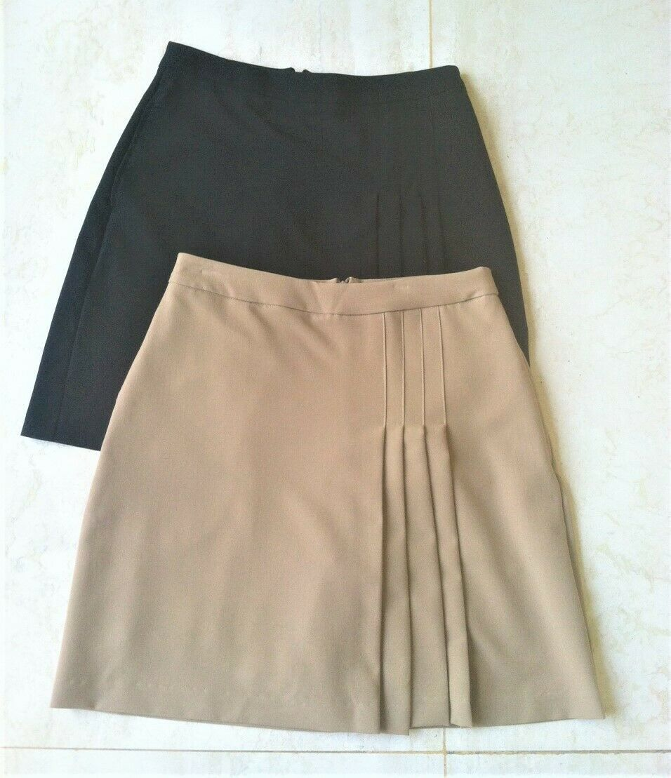 """20"""" Longer Stylish Tan Golf Skort with Attached Shortie - New - GoldenWear"""