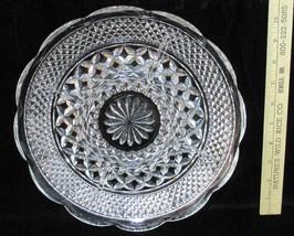 "Divided Serving Platter Chip & Dip Veggies Anchor Hocking Wexford Round 11"" - $16.82"
