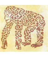 Tribal Chimpanzee monochrome cross stitch chart White Willow Stitc - $7.65