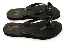Kate Spade Black Denise Thong Sandals Flip Flops Women's NEW - $37.49