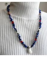 Judy Strobel Ancient Style Mystical Gemstones Cat & Scarabs Necklace - $49.95