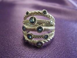 Judith Ripka Sterling Silver .925 Blue Spinel Ring Size 9 Station Cockta... - $133.65
