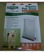 """PetSafe plastic Pet Door Size Medium 1-40 lb doggie cat door w 8x12"""" flap - $39.59"""