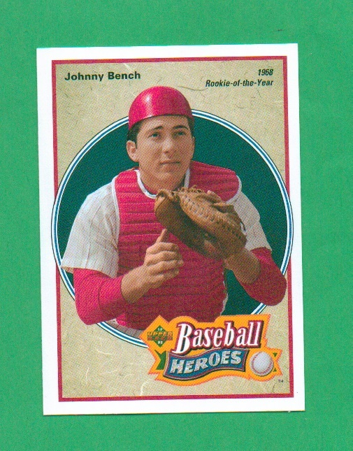 Primary image for 1992 Upper Deck Johnny Bench Baseball Heroes
