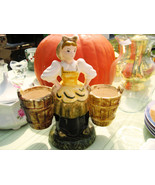 Hand Painted Collectible  Porcelain European Water Girl Plan - $9.95