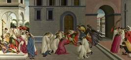 Sandro Botticelli - Three Miracles of Saint Zenobius - 24x32 inch Canvas Wall Ar - $51.99